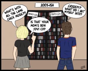 My Life & Music - Frame 3. Comic strip art by John Logan III.