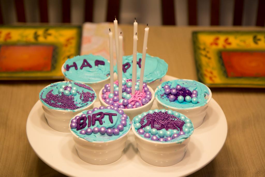 Riley 6th Birthday Cupcakes