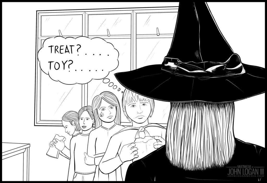Multimedia illustration by John Logan III. Halloween A-game fail